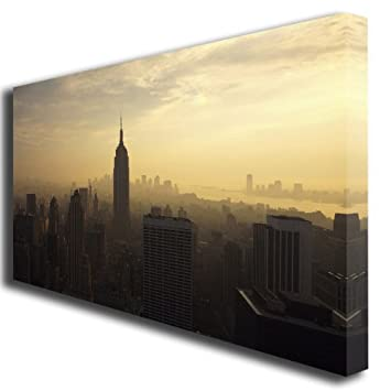 Large New York Canvas Art Print: Amazon.co.uk: Kitchen & Home
