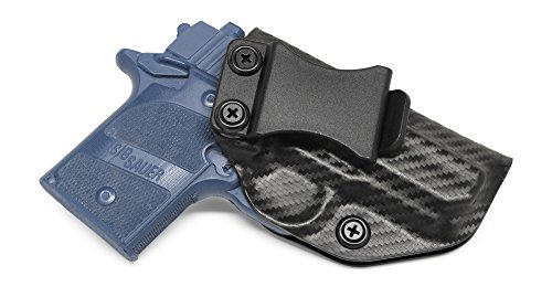 Concealment Express IWB KYDEX Holster: fits Sig Sauer P938 - Custom Fit - US Made - Inside Waistband - Adj. Cant/Retention (CF BLK, Right)