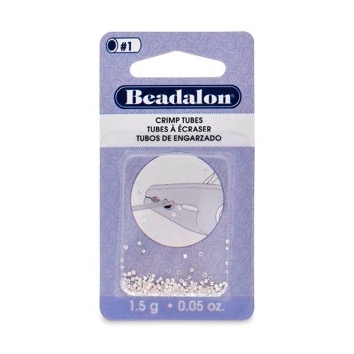 Beadalon Crimp Tube 1.3mm Silver, Plated, 1-1/2-Grams (Crimp Tubes Silver)