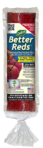 Gardeneer By Dalen Better Reds Mulch Film for Tomatoes 3' x 24' - Red Mulch Tomatoes