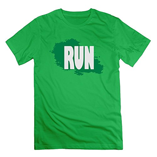 NewLuyang Men's Run T-Shirt - XXL ForestGreen