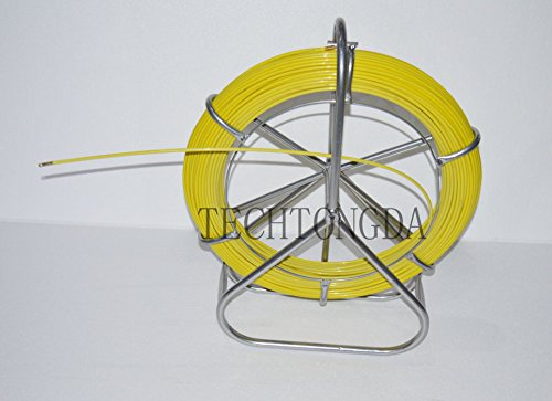 Fish Tape Fiberglass Reel Wire Cable Running Rod Duct Rodder Fishtape Puller 6mm by other (Image #7)