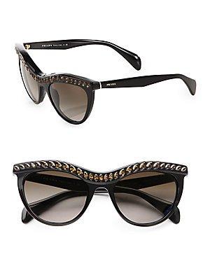 Prada 38621 NAC6S1 Black 04PS Portrait Cats Eyes Sunglasses Lens Category ()