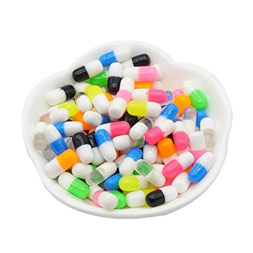 (50PCS Slime Foam Particles Colorful Sprinkles Rainbow Baomabao Styrofoam Cartoons Decompression Toy Decorative Diy Craft For Crunchy Gift Kid)