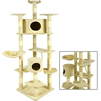 Great BestPet Cat Tree Condo Furniture Scratching Post Pet Cat Kitten Pet House,  80 Inch