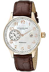 Stuhrling Original Men's 14833.45 Classic Heritage Automatic Mother Of Pearl Date Watch