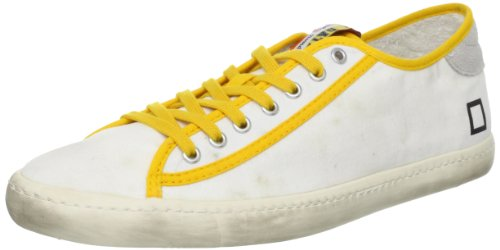 0806O sneakers donna D.A.T.E. TENDER bianco/fuxia shoes woman Bianco / Giallo