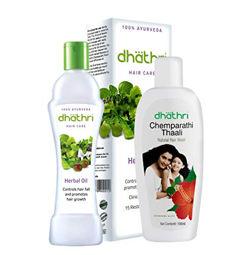 Dhathri hair care herbal oil and chemparathi thaali – compo pack