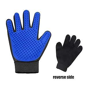 Pet Grooming Glove – Gentle Deshedding Brush Glove – Efficient Pet Hair Remover Mitt – Enhanced Five Finger Design… Click on image for further info.