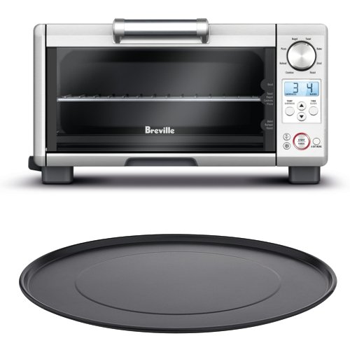 Breville BOV450XL Mini Smart Oven with 11 Inch Aluminum Nonstick Pizza Pan (Breville Bov845bss Best Price)