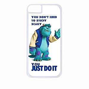 """You Don't Need to Study Scary, You Just Do It"" Hard White Plastic Snap - On Case-Apple iphone 6 Only - Great Quality!"