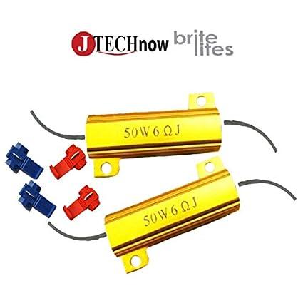 Amazon.com: Jtech 2x 50W 6 Ohm Load Resistors for LED Light Bulbs ...