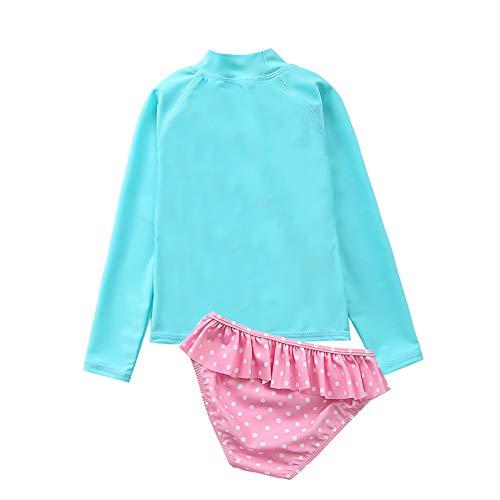KIMJUN Baby Girl Swimsuit One Piece Swimwear Toddler Kid Bikini Bathing Suit Sunsuit Rash Guard 1-7t