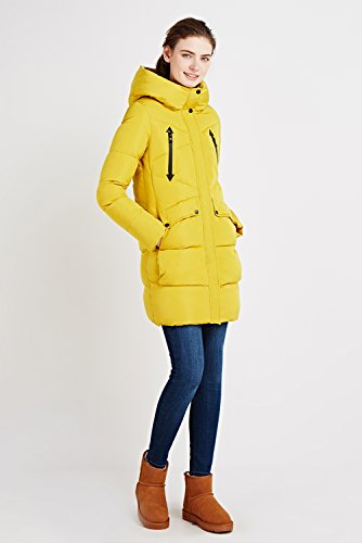 Invierno Mujer Invierno Chaquetas Para Encapuchado Mujer Casual Parkas De Cálido Abrigo Espesar Largas ICEbear Abrigos amarillo Mujer qYxHpXB
