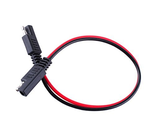 Wadoy 2 Pin Quick Disconnect Wire Harness Sae Connector 14 Gauge Heavy Duty Hight Capacity Battery Cable 10'' Leads