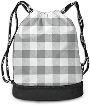 Amazon.com: Neutral Grey Gingham Fabric Pattern Fashion ...