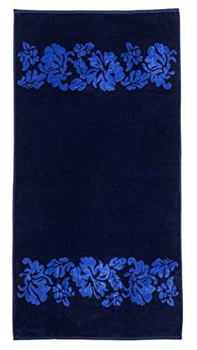 Blue Hawaiian Classic Fabric (Superior Luxurious 100% Cotton Beach Towels, Oversized 34