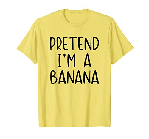 Pretend Banana Costume Halloween Lazy Easy Last Minute