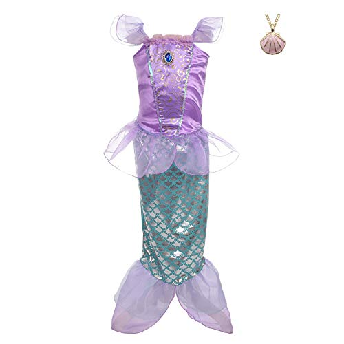 Size 2t Mermaid Costumes - Lito Angels Girls' Princess Mermaid Ariel Dress Up Costume Fairy Tales Mermaid
