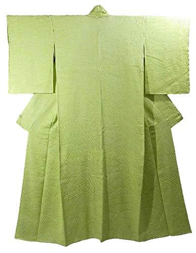 ポスト印象派気候研究リサイクル 着物 訪問着 絞り 波文様  裄63.5cm 身丈162cm 正絹 袷