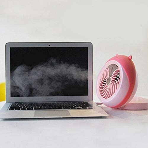 Color : Gray ZHANGQIAO-AE Cunning Foldable Mini Fan USB Handheld Portable Desktop Round Electric Fan Place Office Cooling Personal Fans Mini USB Desktop Fan Small Personal Silent Fan Por