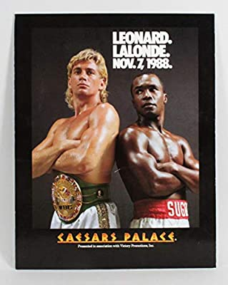 DONNY LALONDE vs SUGAR RAY LEONARD 8X10 PHOTO BOXING POSTER PICTURE