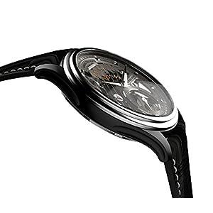Armand Nicolet Hombre Reloj Mecánico con Esfera Gris Pantalla analógica y Negro Correa de Piel a750ana-gr-p713nr2 3