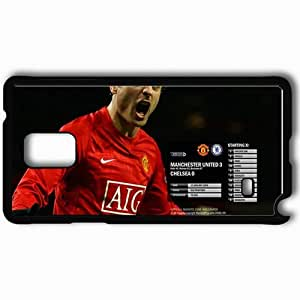 Personalized Samsung Note 4 Cell phone Case/Cover Skin 21 Manchester United Football Black