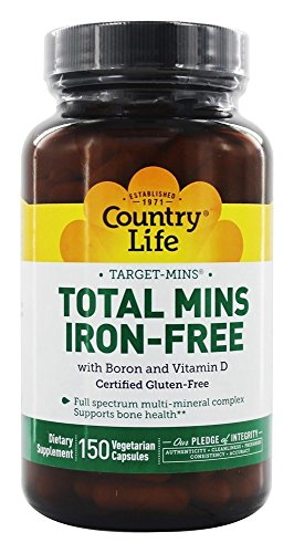 Country Life Target Mins Iron-free Total Mins Multi-mineral Complex, 150-Count