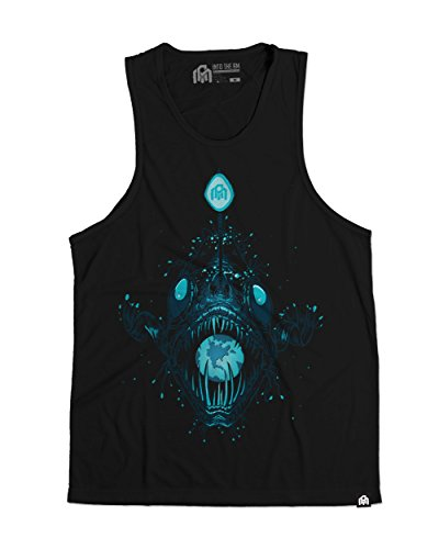 INTO THE AM Angler Glow in the Dark Men's Tank Top Shirt -