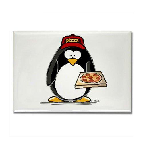 CafePress - Pizza Penguin Rectangle Magnet - Rectangle Magnet, 2
