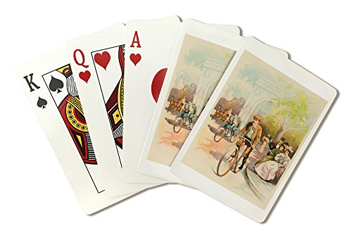 Sterling Cycles Vintage Poster USA c. 1896 (Playing Card Deck - 52 Card Poker Size with Jokers)