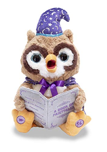Cuddle Barn | Octavius The Storytelling Owl 12 Animated Stuffed Animal Plush Toy | Eyes Light Up, Mouth Moves and Head Sways | Wizard Owl Recites 5 Fairy-Tales