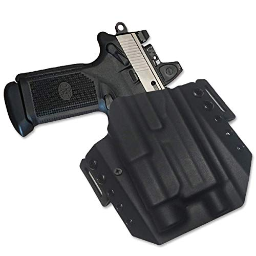 Elite Force Holsters: Light Bearing Kydex Holster for FNX-45 Tactical FNX-T with Streamlight TLR1 - RMR Cut - Black, Right Hand