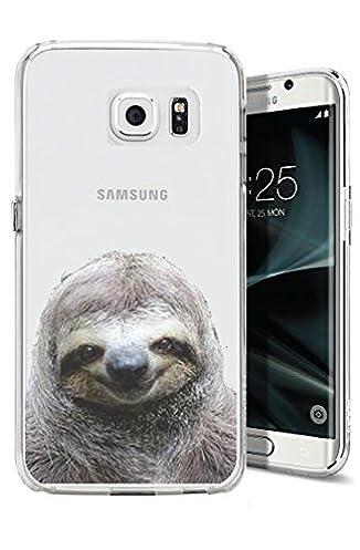 41gPLHvCQOL._SX326_BO1204203200_ galaxy s7 edge case cover cover cherry sloth funny meme animal clear