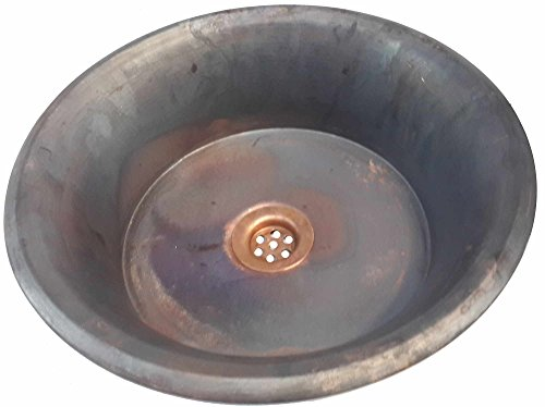 Egypt gift shops Matte Satin Dark Bronze Patina Vessel Copper Bath Pan Panning Sink Toilet Home Remodel