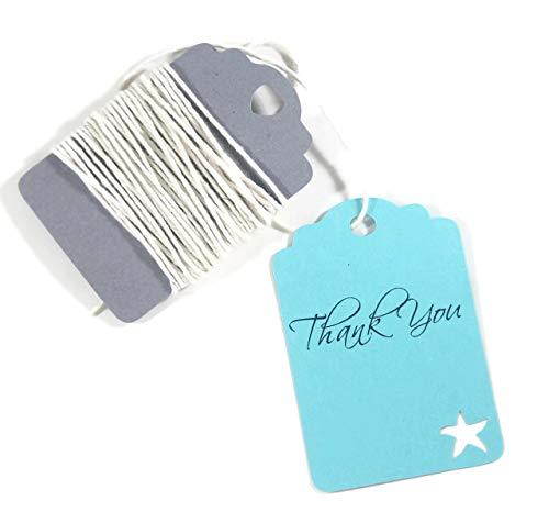 Starfish Medley - Aqua Starfish Tags - Under the Sea Thank You Labels - Bridal Shower (Set of 20)