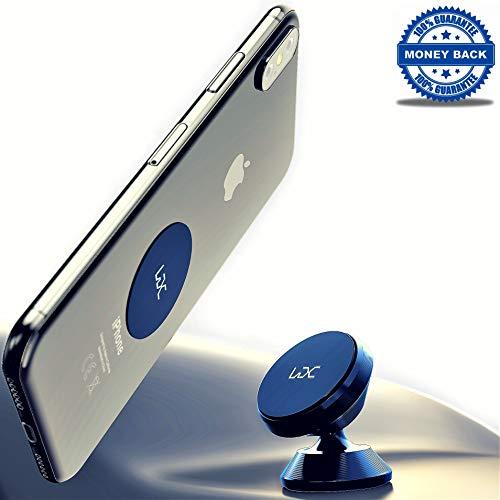 Magnetic Phone Car Mount - 360 Magnetic Phone Holder - Cell Phone Car Mount - Magnetic Phone Holder for Car - Rotation Car Phone Holder for iPhone X XS Max 8 8 Plus 7 7 Plus Samsung S7 S8 HTC LG
