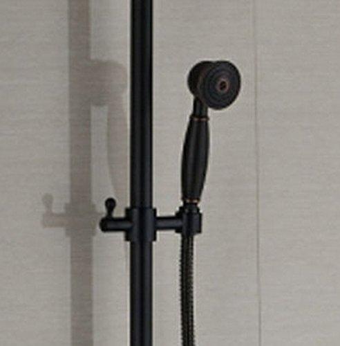 GOWE Luxury Oil Rubbed Broze Shower Sets W/Hand Shower Round Shower Head Single Handle Mixer Faucet 3