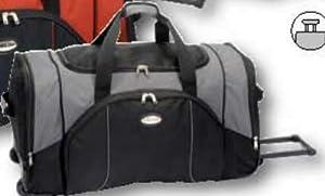 Extra große Rollentasche 74x35x34 cm (schwarz/grau)