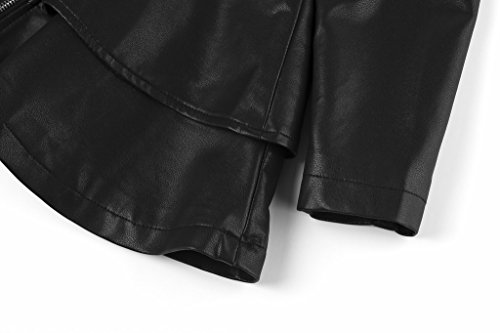 The Twins Dream Girls Faux Leather Coat Toddler Jacket for Kids Dress Coat with Emboss Rose 3-12y by The Twins Dream (Image #8)