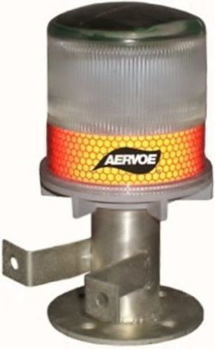 Aervoe Solar Strobe/Signal Light - Red
