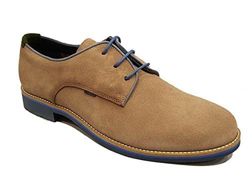 TOLINO - Zapato blucher de piel afelpado Gris - 67200