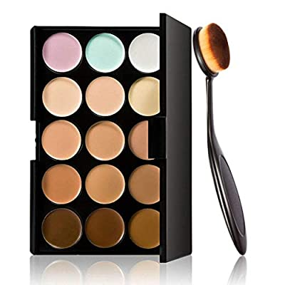 Asatr 15 Color Contour Cream Concealer Palette With Brush Foundation Makeup Concealers & Neutralizers