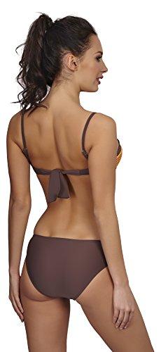 Verano Bikini Push Up para Mujer Andrea Naranja/Marrón (Punto)