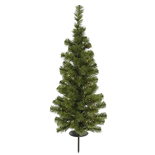 Vickerman 3' Pre-Lit Solar Powered Artificial Stake Christmas Tree - Clear LED Lights by Vickerman