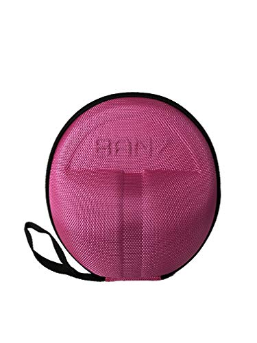 Baby Banz Earmuffs CASE - Protective Premium Hard EVA Case - Holds BANZ Baby Size Earmuffs and Bluetooth Baby Headphones - Protect Children Hearing Earmuffs - Travel Case (Pink) (Baby Banz Pink)