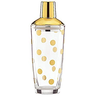 kate spade new york Two Of A Kind Gold Dot Cocktail Shaker