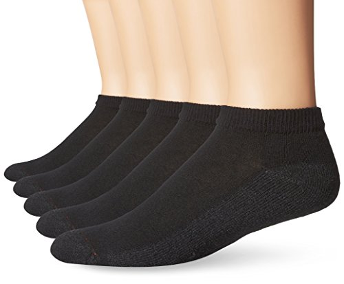 Hanes Men's FreshIQ ComfortBlend Low Cut Socks, Black, Shoe Size: 6-12 (Pack of 6) from Hanes