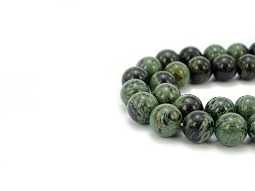 - jennysun2010 Natural Kambaba Jasper Gemstone 8mm Smooth Round Loose 50pcs Beads 1 Strand for Bracelet Necklace Earrings Jewelry Making Crafts Design Healing